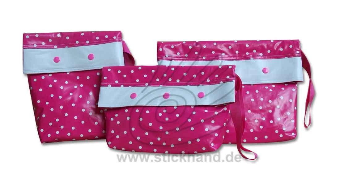 0205283 Kleine Punkte pink-weiß
