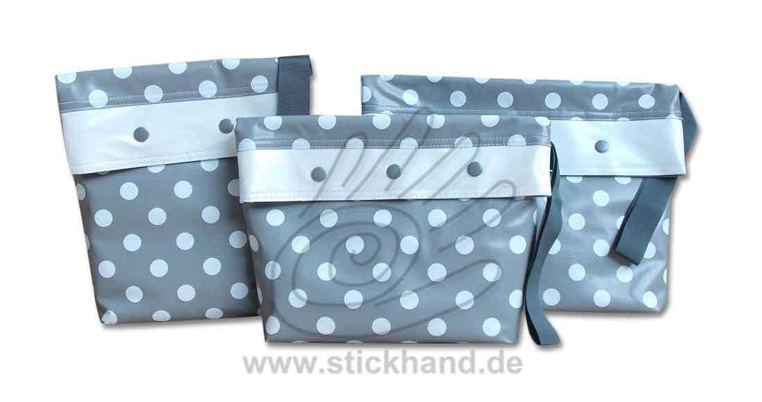 0205291 Mittelgroße Punkte grau-weiß