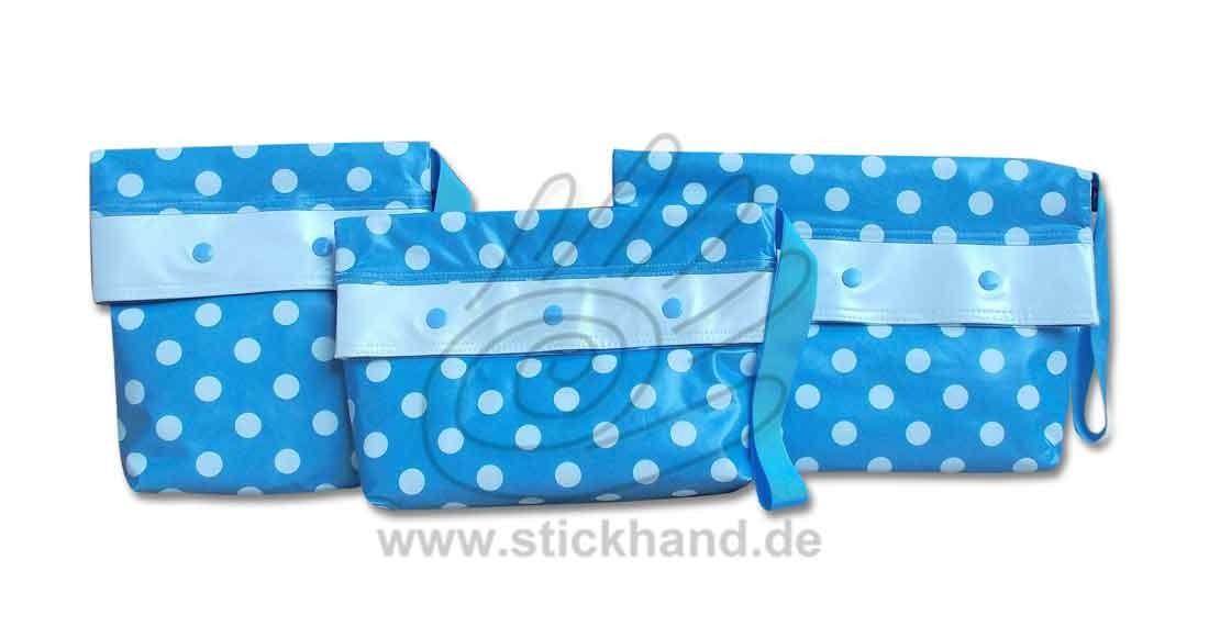 0205293 Mittelgroße Punkte blau-weiß