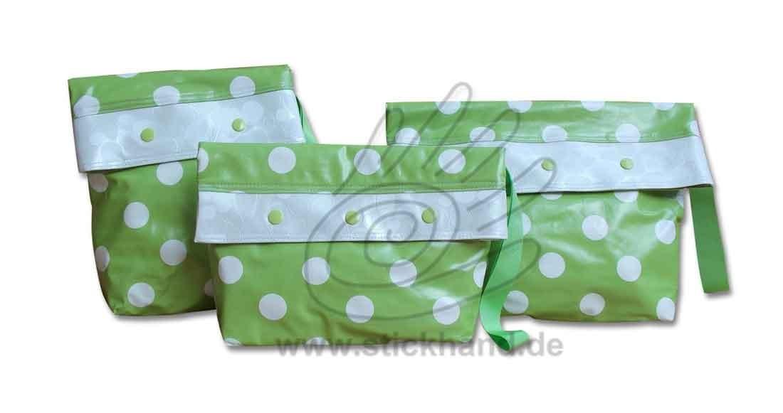 0205296 Große Punkte grasgrün-weiß