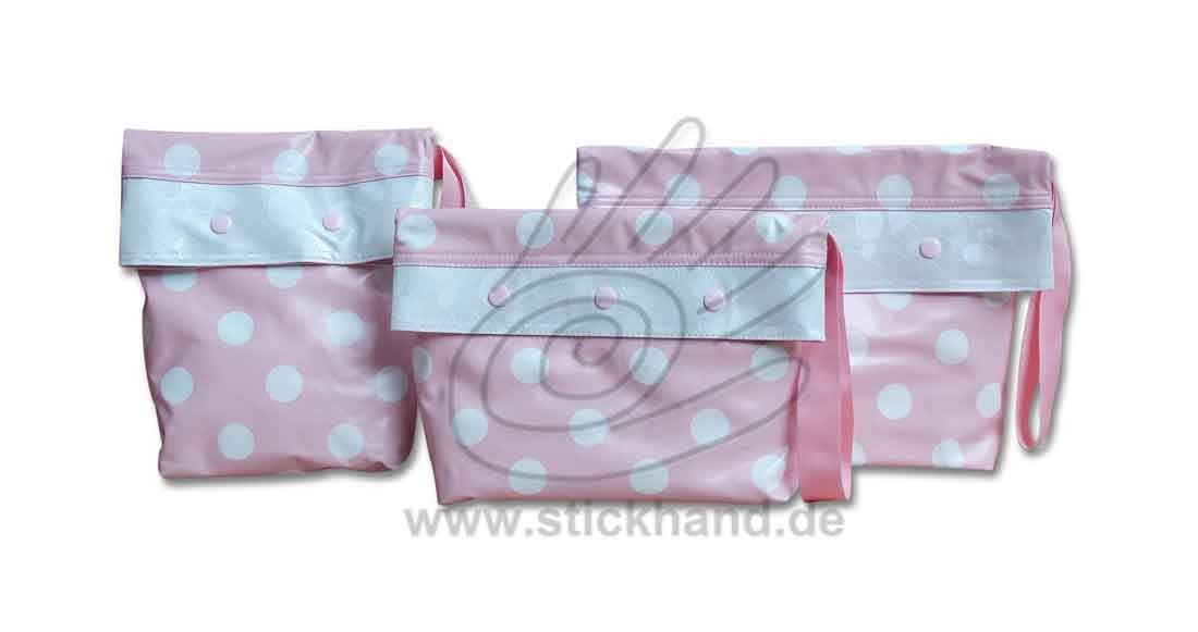 0205304 Große Punkte rosa-weiß