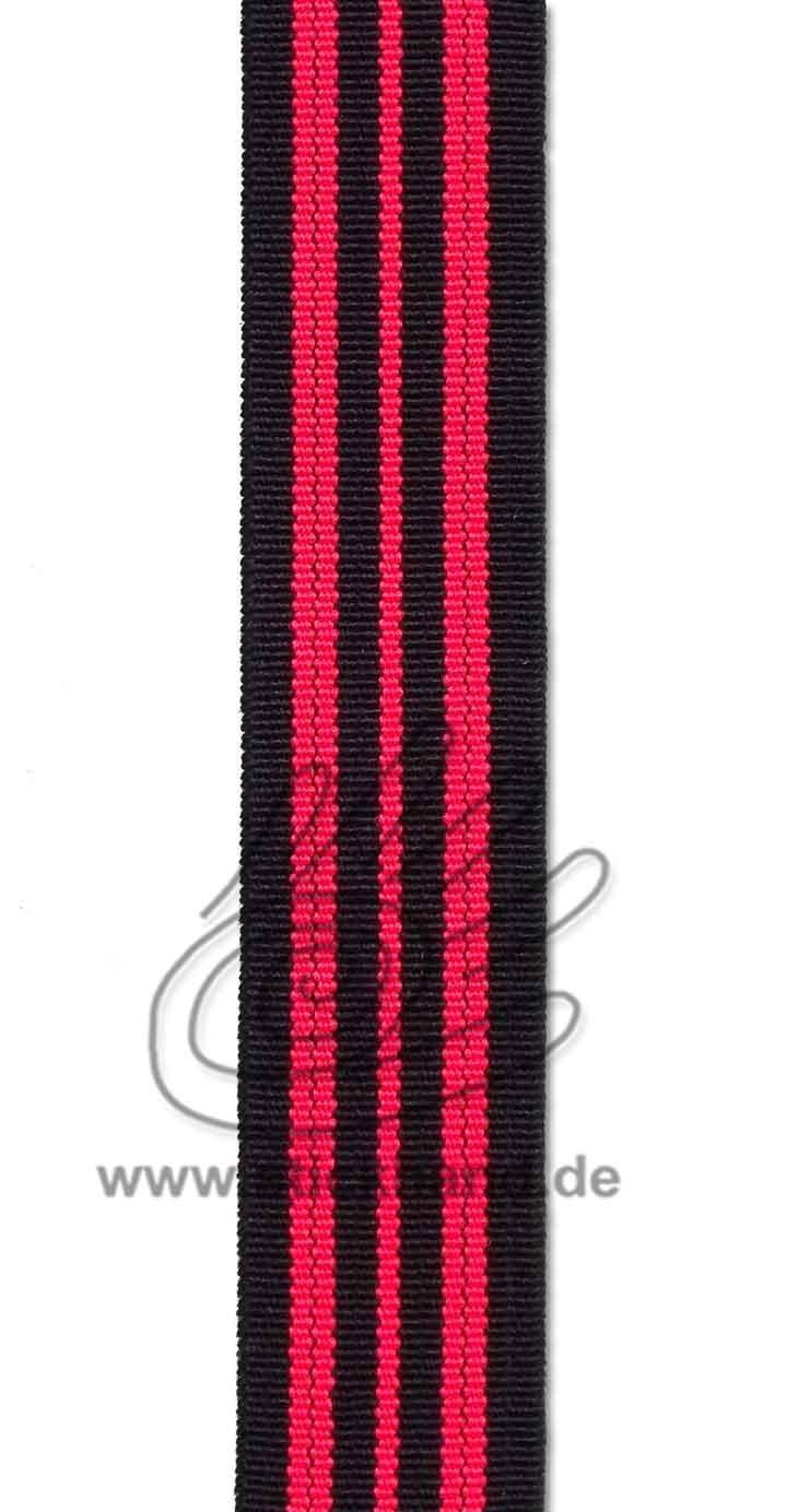 0603088 Gummiband – 20 mm – schwarz pink-neon