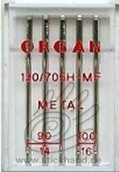 0604056 Organ Maschinennadeln - für Metallicgarne