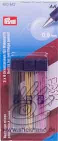 0604083 Ersatzminen für Minenstift Prym extra fein - farbig