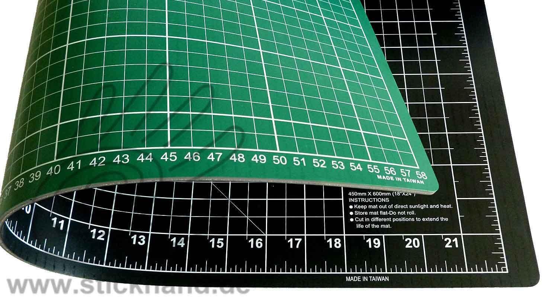 0604090Schneidematten 60 x 45 cm grün-schwarz