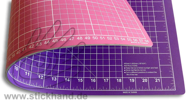 0604096 Schneidematten 60 x 45 cm pink-lila