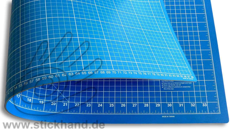 0604103 Schneidematten 90 x 60 cm blau-hellblau