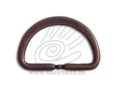0604158_Halbrundring oder D-Ring – kupferfarben