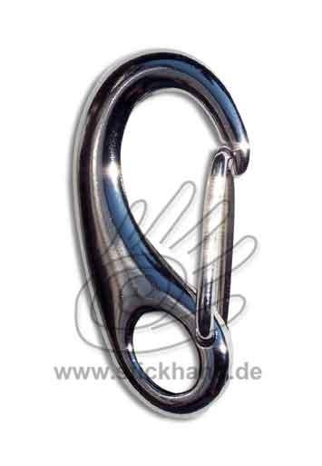 0604172_Schnappverschluss oder Karabiner mit Bügel - altsilber-farben