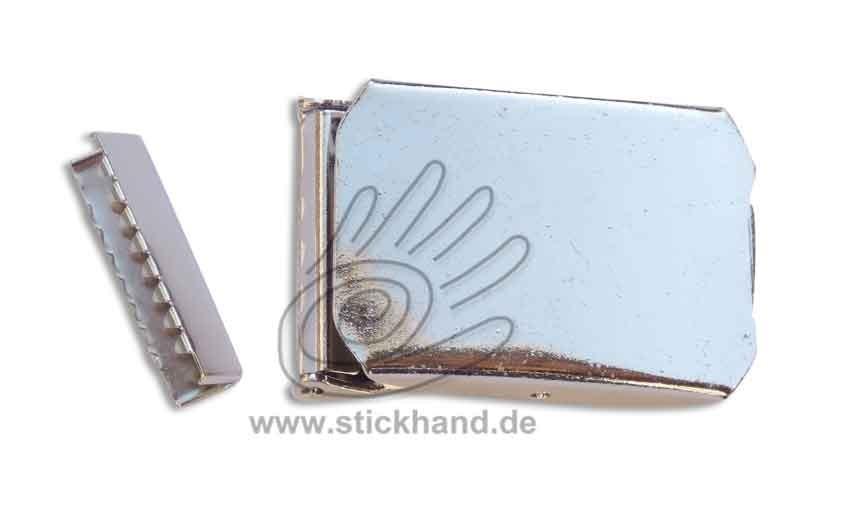 0604188_Metallschließe mit Gurtendstück, 30 mm