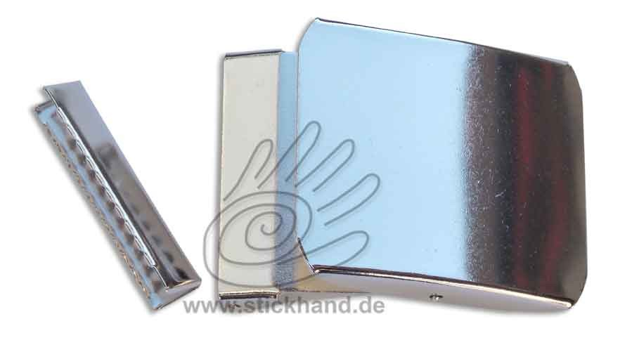 0604189_Metallschließe mit Gurtendstück, 40 mm
