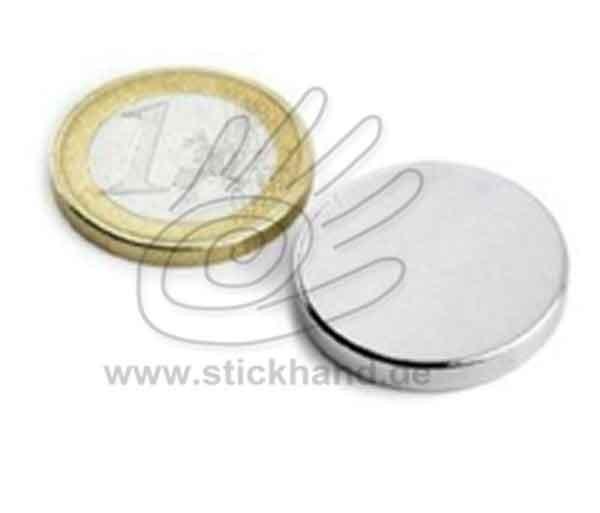 0604196_Scheibenmagnet Neodym zum Einnähen, 25 mm - rund