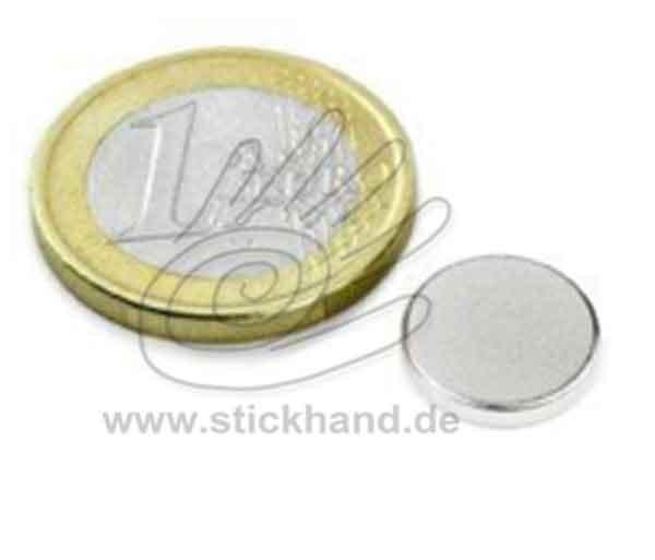 0604197_Scheibenmagnet Neodym zum Einnähen, 12 mm - rund