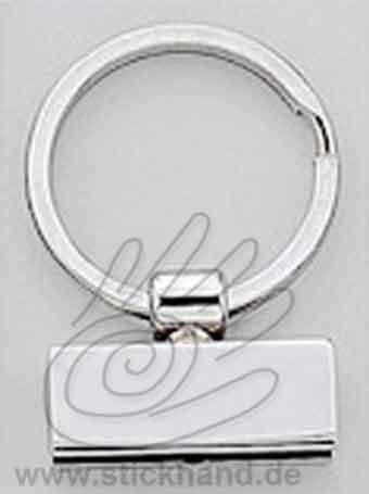 0604233 Schlüsselring mit Klemme, silberfarben
