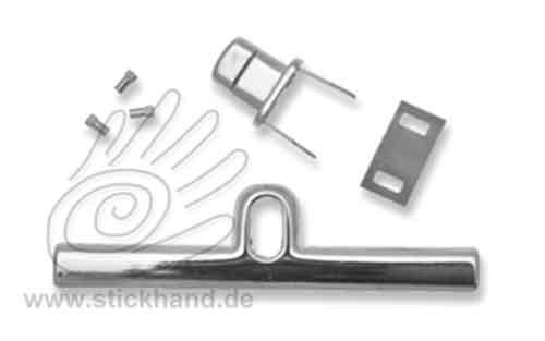 0604238 Drehverschluss mit Metall-Schiene, 100x26 mm, silberfarben