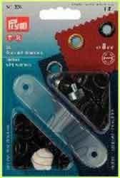 Prym 541 376 Ösen mit Scheiben 8 mm Durchmesser, brüniert