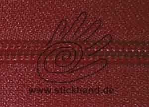 0621223 Reißverschluss, 6mm, Dunkelrot