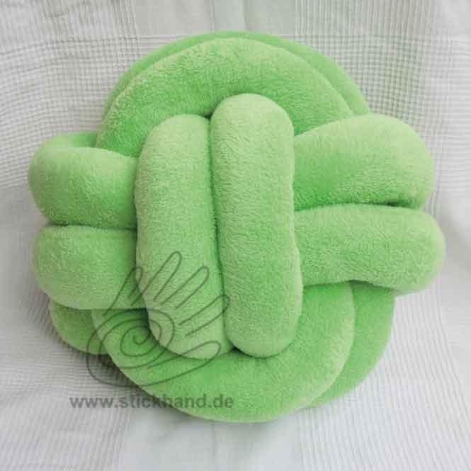 """0205143_Knoten-Kissen """"Affenhand"""" – Packung - grün"""