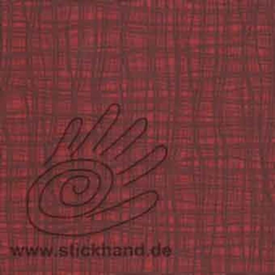 Lederimitat 50`s - Farbe 26 - Welle rot