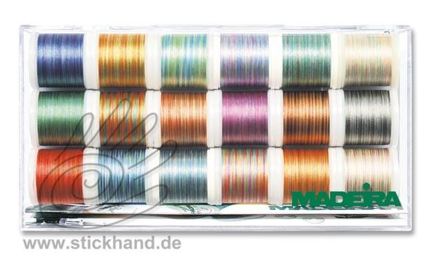 8046 Stickbox Polyneon No.40 Multicolor Farben