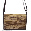"0304122 City-bag Lederimitat/Kork ""mittel"" - Zebra-Optik"