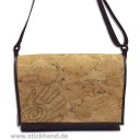 "0304128 City-bag Lederimitat/Kork ""breit"" - Marmor-Optik"