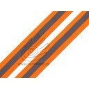 0603141 Reflektierendes Band - orange-grau-orange - 25mm breit