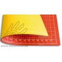 0604092 Schneidematten 60 x 45 cm orangerot-gelb