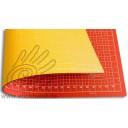 0604102 Schneidematten 90 x 60 cm orangerot-gelb