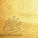 4610117 Lederimitat in Straussoptik – gold