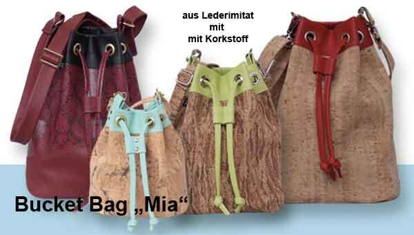 Schultertasche – Bucket Bag  Mia – Nähanleitung für drei Größen